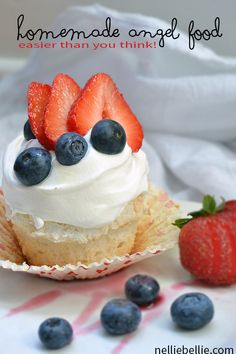 How to make homemade angel food cake and cupcakes. Easier than you think.