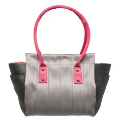 Marilyn Tote Color Pop Bright Handbag Pink, Gray, Fuchsia