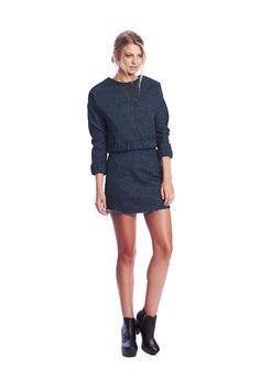 Jean Sweater $189 NZD Jean Skirt $179 NZD www.makeheartsrace.com