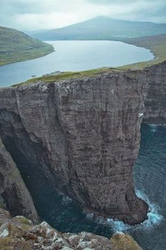 Lake Sorvagsvatn, Faroe Islands - This two level lake and it is 30m above ocean