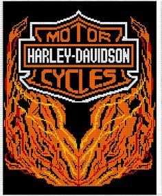 Ravelry: Harley Davidson Afghan Chart, Free