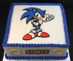 Buttercream iced Sonic cake jsweetstreats.vpweb.com or FB- Jsweets Treats