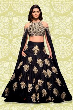 Black Colour Banglori Silk Fabric A Line Lehenga Choli Comes With Matching Blouse and Dupatta. This Lehenga Choli Is Crafted With Embroidery,Patch Work. This Lehenga Choli Comes As a Semi Stitched and...