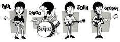 banda beatles desenho - Pesquisa Google