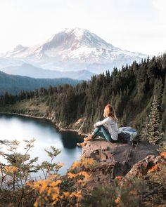 PNW Hike Inspiration // Trail near Mount Rainier National Park.