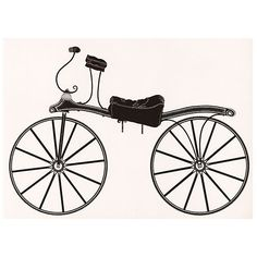 Pre-Owned Hobby-Horse  Bicycle Lithograph ($185) ❤ liked on Polyvore featuring home, home decor, wall art, horse home decor, horse wall art, bike home decor, bike wall art and black white wall art
