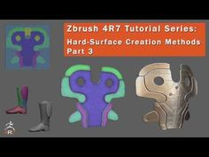 In this 3-part series I will show some examples of using many of Zbrush's tools in combination to create various hard-surface elements. In this third part I'...