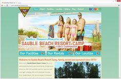 Director of Marketing at Sauble Beach Resort Camp, Shelby DeJong, contacted Mocoda Interactive to update their ancient website. It was very old, very outdated, and took a very long time to update, when their webmaster go to it. The redesign provides a more modern and user-friendly design, present the facilities that Sauble Beach Resort Camp provides, and the interesting attractions that the Sauble Beach area provides.