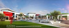 Superior 3D Shopping Mall Day & Night Rendering And Elevation Design By 3D Power - Picture gallery