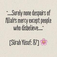 God's mercy. Quran