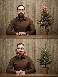 Christmas Beard. This just killed me. So random.