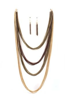Casey Necklace in Gold Tri Tone