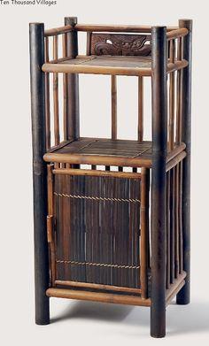 Dragon Bamboo Side Table