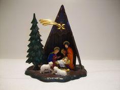 Vintage Plastic West Germany Christmas Nativity
