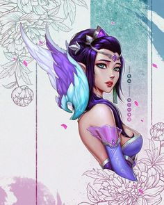 ♥『League of Legends』♥ – Majestic Empress Morgana by David Pan - Minecraft, Pubg, Lol and Lol League Of Legends, League Of Legends Support, Morgana League Of Legends, League Of Legends Charaktere, Game Character, Character Concept, Character Design, Avatar, Overwatch