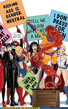 fight for superheroine rights!