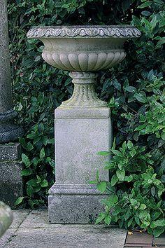 urn and plinth...