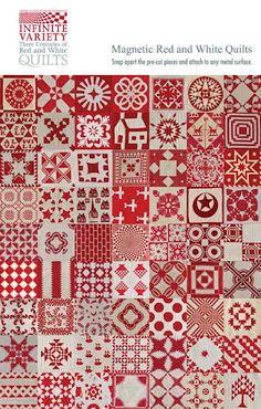 red & white sampler
