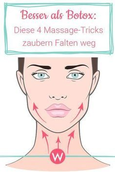 4 massage tricks for firm facial skin- 4 Massage Tricks für straffe Gesichtshaut Get rid of wrinkles on the chin, mouth, eyes and forehead quickly with these four massage strokes! Just apply regularly. Beauty Care, Beauty Skin, Beauty Hacks, Beauty Makeup, Diy Beauty, Beauty Guide, Beauty Secrets, Beauty Products, Natural Products