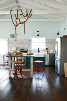 Kitchen Easy going layed back.Rustic and modern.