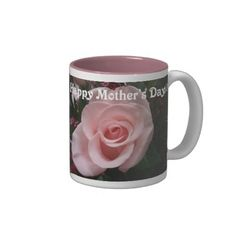 Pink Rose Mothers Day Two-Toned Mug