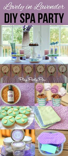 Lovely in Lavender DIY spa party ideas, perfect for a girls night