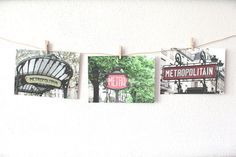 travel postcards sets of postcards 3 Paris photography blank postcards set photo notecards Paris bedroom decor 4x6 (10x15) F R E E SHIPPING