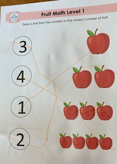 Comes with 5 different levels. Available in Garden Package. Learning Centers, Preschool, Printable, Apple, Education, Math, Garden, Apple Fruit, Garten