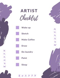 #Artist #Checklist:  • Wake up • Sketch • Make coffee • Draw • Do laundry • Paint • Sleep  Repeat! 😊 #ArtistLife #Motivation #ArtStudent Christina Ramos, Painting Classes, Coffee Drawing, Doing Laundry, Artist Life, Museum Collection, Creative Thinking, Repeat, Sketch