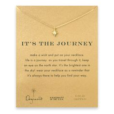 it's the journey north star necklace, gold dipped #dogeared #freespirit