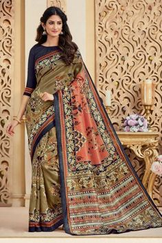 ab73ea77ae8ee2 Fabulous Multi Bhagalpuri Silk Saree With Bhagalpuri Silk Blouse - DMV12417  Sari Dress