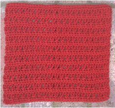 Cross Stitch Facecloth/Dishcloth   2001 - Free Crochet Pattern