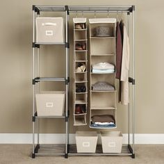 """""""Something to organize your room"""" --- found it at wayfair.com --- Whitmor, Inc Double Rod Closet"""