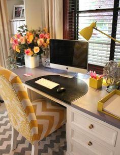 desks - in front of window