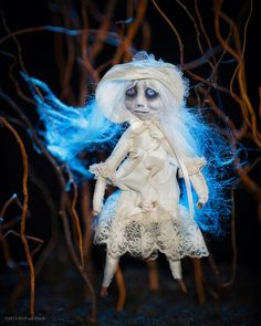 Ghost Art Doll Ooak Haunting Cloth Doll Orphan by TheHauntedVessel, $150.00