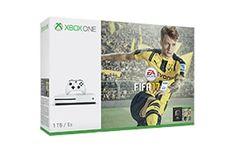 Le pack Xbox One S FIFA 17 inclut une console Xbox One S et une manette, un téléchargement complet du jeu FIFA 17 et 3 légendes Ultimate Team Loan et un mois gratuit d'EA Access.