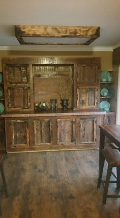 All of us are damn conscious about the decoration of our houses, we make both ends meet in this task. But I believe this vintage dining room cabinet won't take much from you, the roughest pallets are used here in making this vintage cabinet to maintain a certain decorum.