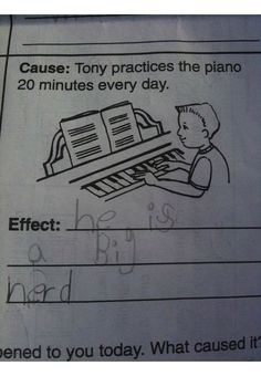 Funny kids' test answers.
