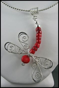 Dragonfly wire wrapped jewelry on pinterest | Jewelry - Wire Wrapped