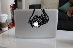 Nikon Camera Funny Decal Sticker for Apple MacBook by NickoDesigns, $7.00