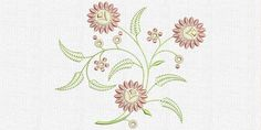 Free flowers ornament embroidery design. Machine embroidery design. www.embroideres.com