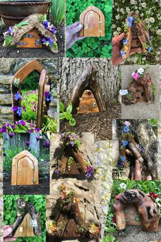 Many beautiful Fairy Doors to choose from in the Enchanted Entrance Collection by Sprouted Dreams!