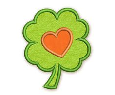 Heart Shamrock St. Patrick Applique Embroidery by EmbroideryLand