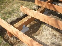 Image of wooden beam footing