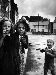 "Philip Jones Griffith - ""Children"". Laugharne, Wales, Great Britain 1952."