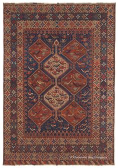 Guide to the history and art of antique rugs woven by the Qashqai tribe in century Persia. Antique Quashqai tribal rugs from Claremont Rug Company. Persian Carpet, Persian Rug, Iranian Rugs, Dark Carpet, Tribal Rug, Woven Rug, Carpet Runner, Rugs On Carpet, Runners