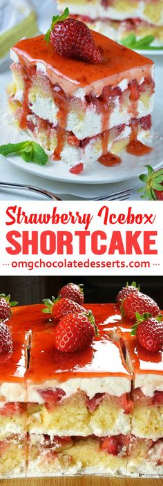 Strawberry Icebox Shortcake is delicious twist on two classic spring and summer treats! You don't have to choose between your favorite desserts with fresh strawberries: Strawberry Shortcake and Strawberry Icebox Cake. You can have the best of both packed in one simple and easy dessert. If you like strawberries...