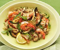Herbed Quinoa with Shrimp and Zucchini