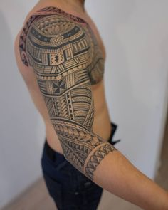 "905 Likes, 8 Comments - tattoo artist (@polynesian_tattoo) on Instagram: ""#polynesiansleeve #tattoospb"""