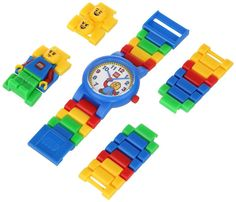 This vibrantly colored iconic Children's Quartz Watch from LEGO® features the classic LEGO® minifigure built into the strap. It comes complete with additional minifigure heads allowing you to customize the watch to reflect your personality. This watch comes with multi-coloured, interchangeable links and an easy-to-read watch face that is not only exciting but also comfortable and durable. This Children's Quartz Watch comes with accessories, which offer plenty of design possibilities.